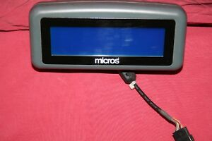 Lot Of 14 Micros Pos Customer Display P n 400701 001 W mount cable Shown