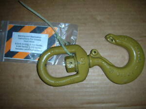 Crosby S 322cn 1048636 3 Ton Wll Forged Swivel Hoist Ring Hook 5 8 Nos