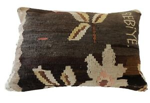 Superb Old Turkish Tribal Kilim Pillow 24 By 16