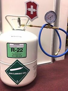 R 22 Refrigerant Disposable Cylinder 5 Lb Check Charge It Kit With 36 Hose