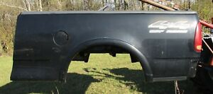 1997 1998 1999 2000 2001 02 03 Ford F150 Short Fleet Side Truck Box Bed Black