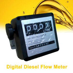 4 Digital Fm 120 Diesel Gasoline Fuel Petrol Oil Flow Meter Counter Gauge