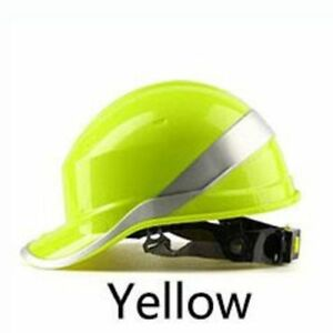 Safety Helmet Hard Hat Work Cap Abs Insulation Material With Phosphor Stripe Con