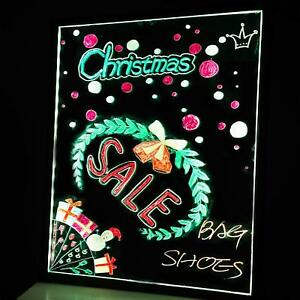 Flashing Illuminated Erasable Neon Led Message Menu Sign Writing Board 24 X 16