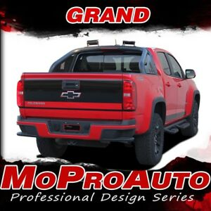 2015 Chevy Colorado Truck Grand Tailgate Blackout Vinyl Graphic Stripe 3m Decals