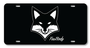 Foxbody Mustang Ford Racing Auto Vanity License Plate Car Truck Accessory Cool