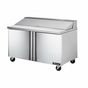 Titan Tisu60 16 Sandwich Prep Tables 2 Door 16 Pans 60 Inch