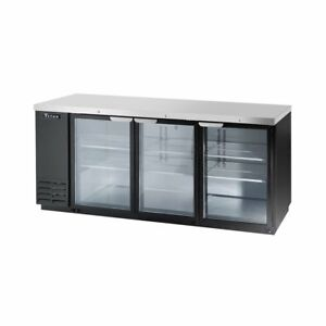 Titan Tibb80g b Back Bar Glass Door Refrigerator 3 Door 80 Inch