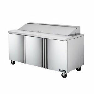 Titan Tisu72 18 Sandwich Prep Tables 3 Door 18 Pans 72 Inch