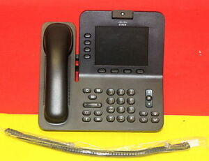 Cisco Cp 8945 Video Ip Phone w Handset Stand New Curly Cord 300xavailable