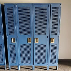 Lyon Metal Locker 4 Door Metal Room School Business Industrial Cabinet