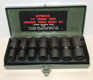 Universal Power Socket Set 1 2 Square Drive 8pc