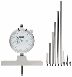 Fowler Full Warranty Steel X series Depth Gauge With Satin Chrome Finish 0 22