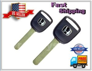 2pcs Honda Ho03 46 V Chip Transponder Chipped Key Blanks Usa Seller