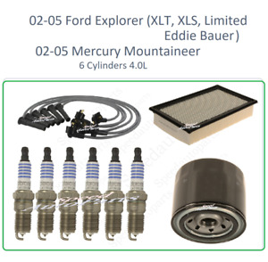 Tune Up For 02 05 Ford Explorer Mercury Mountaineer 4 0v6 Sparkplug Wireset Air