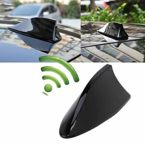 Black Auto Car Exterior Roof Shark Fin Am Fm Radio Rv Signal Aerial Antenna