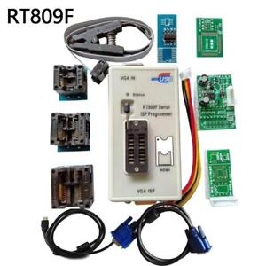 Rt809f Set Universal Eprom Flash Vga Isp Avr Programmer Clip 7 Adapter Socket