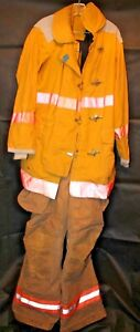 Coat And Pants Firefighter Turnout Bunker Fire Gear Liner Janesville Lion 38xl
