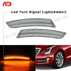 For Cadillac Ats 15 17 Cts 14 17 Led Side Fender Marker Light Lamp Clear Front