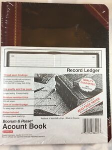 Boorum Pease Account Book Record Ledger 150 Pages 38 150 r 9 5 8 X 7 5 8