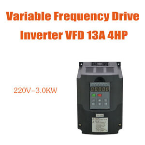 3kw 220v New Vfd Variable Frequency Drive Inverter 4hp 13a