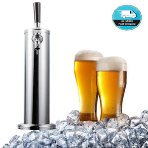 Stainless Steel Single Tap 1 Faucet Draft Beer Tower For Bar Home Brew Kegerator