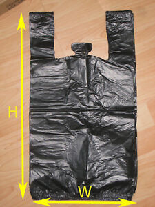 Black Large Plastic Shopping T shirt Grocery Store Bags 11 5 X 6 5 X 21 5 1 6