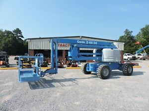 2006 Genie Z60 34 Boom Lift Jlg 60 Reach Articulating Good Condition