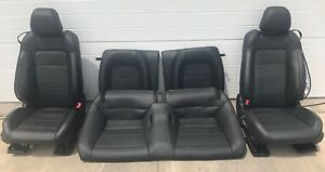 2015 2017 Ford Mustang Gt Black Leather Seats Front back Heate