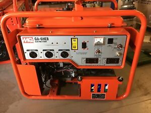 Used Multiquip Ga 6heb Portable Generator 6000 Watt 120 240v Honda Gx340 Engine