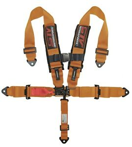 Stv Motorsports Seat Belt Harness 5 Point 2 Polaris Rzr Ranger Razor orange