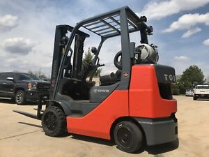 2011 Toyota 6000 Pound Lpg propane Budget Forklift we Will Ship