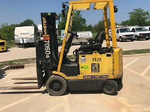 2003 Hyster 6000 Pound Budget Forklift we Will Ship l k save lift Over 15 Ft