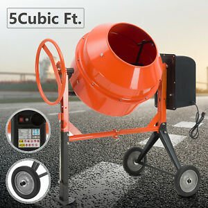 5cuft 4 5hp Portable Electric Concrete Cement Mixer Barrow Machine Mixing Mortar