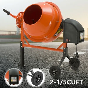Portable 2 1 5 Cuft Electric Concrete Cement Mixer Barrow Machine Mixing Mortar