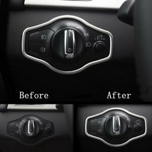 Car Headlight Switch Button Cover Trim Frame For Audi A4 S4 A5 S5 Q5 B8 New