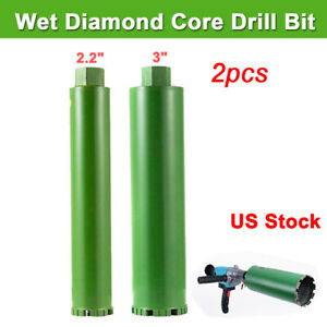 1 1 2 1 5 2 Combo Wet Diamond Core Drill Bit For Concrete Premium Grade