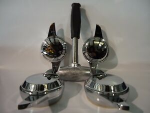 Set Of 4 Knock Offs 2 Bar 2 Way Swept Dome Top Spinner W Lead Hammer Wire Wheels