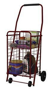 Helping Hand Red Pop n Shop Cart With Shelf