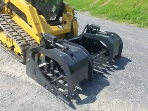 New 78 Root Grapple Bucket Hydraulic Attachment Compact Track Loader Skid Steer