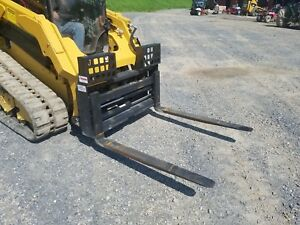 New 48 Hydraulic Sliding Pallet Forks Attachment Compact Track Loader Skid Steer