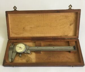 Starrett No 120 Caliper 6 Inch Machinist Tool W Wood Box