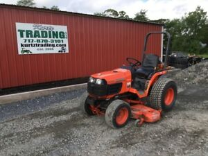 2007 Kubota B7510 4wd Hydro Transmission Compact Tractor With 60 Mower Deck