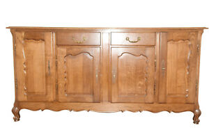 Solid Oak Antique French Country Server Sideboard Or Buffet Oak 1920 40 S