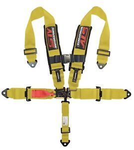 Stv Motorsports Universal Safety Seat Belt Harness 5 point 2 Inch yellow