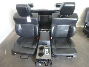 04 08 Ford F150 Front And Rear Seat Console Black Leather Power Oem