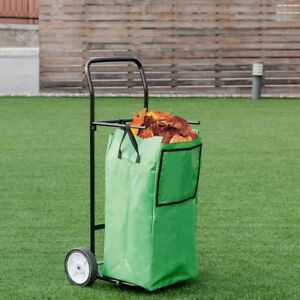 Foldable Utility Cart Basket 8 Solid Wheels Lawn Grocery Shopping Carts Us