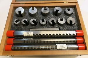 Dumont Minute Man No 80 Metric Keyway Cutter Broach Full Set