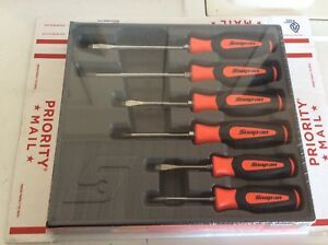 New Snap On 6 Pc Combination Instinct Soft Grip Orange Screwdriver Set Sgdx60bo