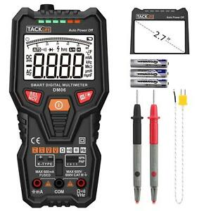 Multimeter Tacklife Dm06 Digital Electric Tester Auto Range 6000 Counts Trms Vo